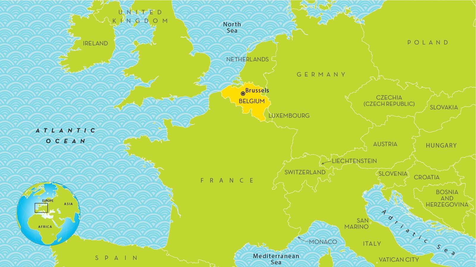 Brusszel Terkep Europa Terkep Brusszel Europaban Belgium