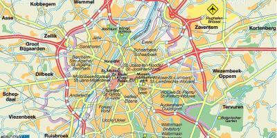 Brusszel Autopalya Terkep Bruxelles Autopalya Terkep Belgium