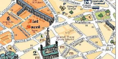 brüsszel térkép látnivalókkal Brüsszel térkép   Térképek (Brüsszel, Belgium)